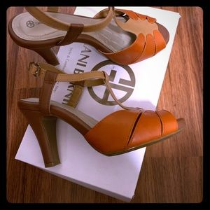 Giani Bernini Orange Heels 5.5M